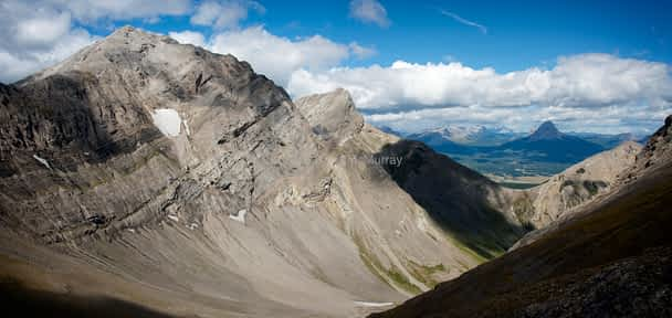 Andy Good Peak and Mount Parrish from Mount Coulthard