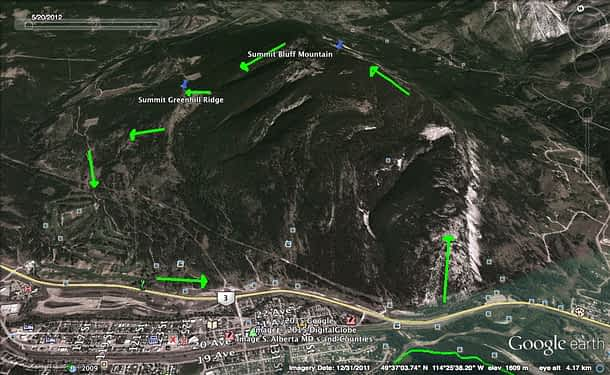 Bluff Approximate Map