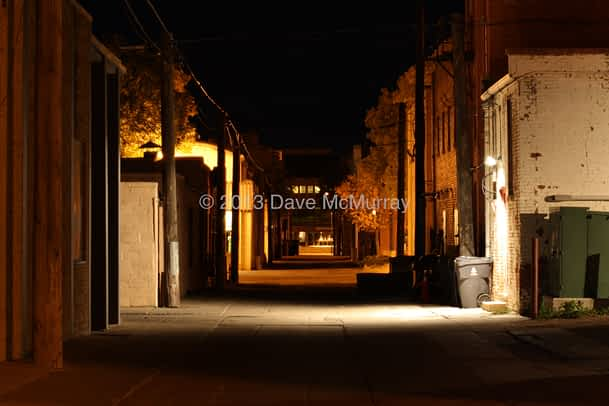 Foster's Alley at Night