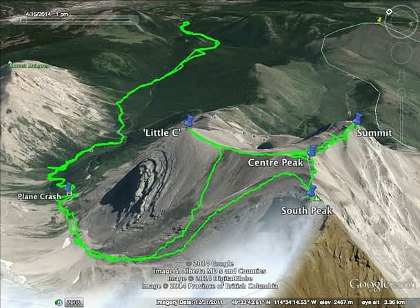 Mt. Coulthard Map1