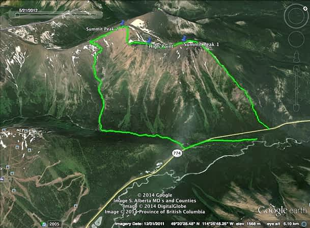 Syncline Route Map